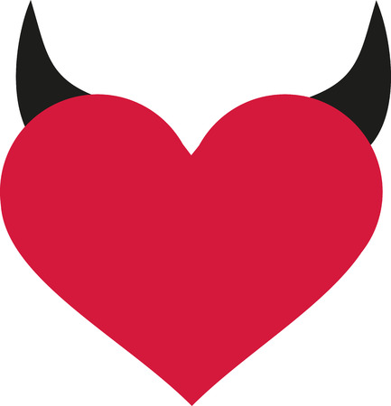 Heart with devil horns
