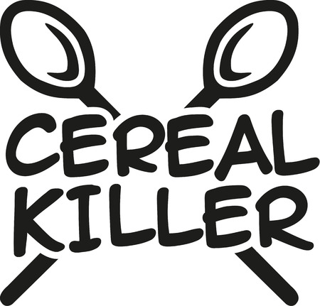 cereal bowl: Cereal Killer with spoons