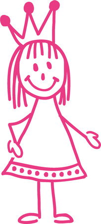 beauty queen: Princess stickman pink