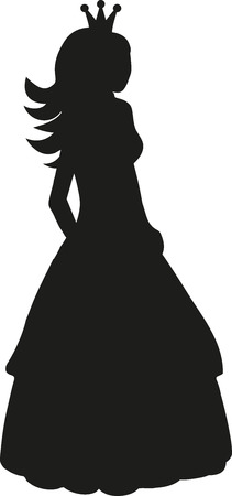 beauty queen: Princess silhouette with crown Illustration