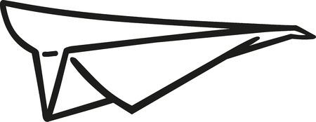 Paper Airplane icon Illusztráció