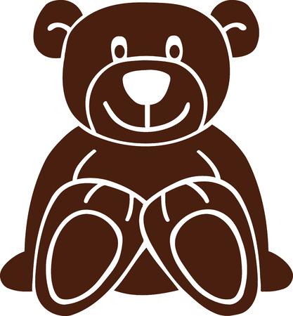 Isolated teddy bear Illusztráció