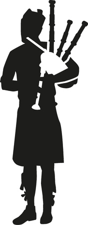 bagpipe: Bagpipe player silhouette