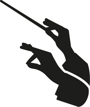 Conductor hands with baton