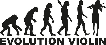 進化、バイオリン奏者