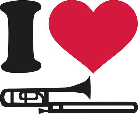 trombone: I love trombone icon