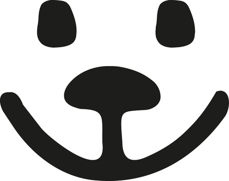 Smiling teddy bear face