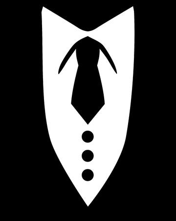 Black tie tuxedo Illusztráció