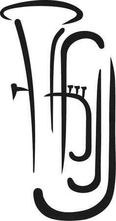 tuba: Tuba caligraphy style