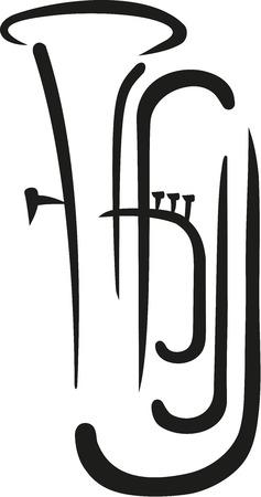 Tuba kalligrafie stijl