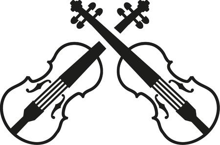 fiddles: Crossed violins