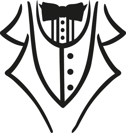 Tuxedo with bow tie caligraphy style