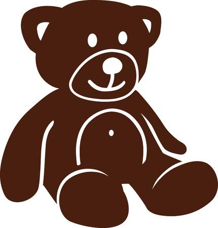 cute bear: Cute brown teddy bear