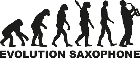 Evolution Saxophone player