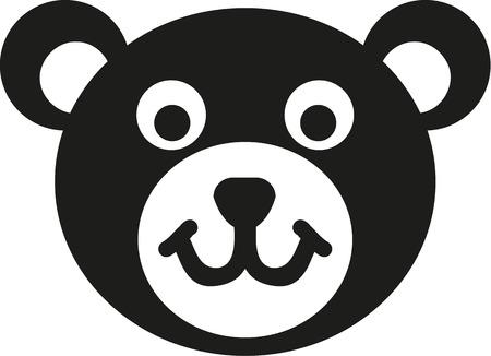 sign  childhood: Teddy bear head icon Illustration