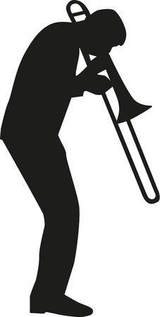 Trombone player silhouette