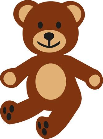 Childrens teddy bear Illusztráció