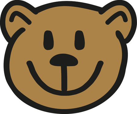 Cute teddy bear head design