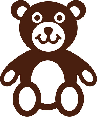 sign  childhood: Teddy bear icon Illustration