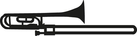 trombone: Trombone silhouette Illustration