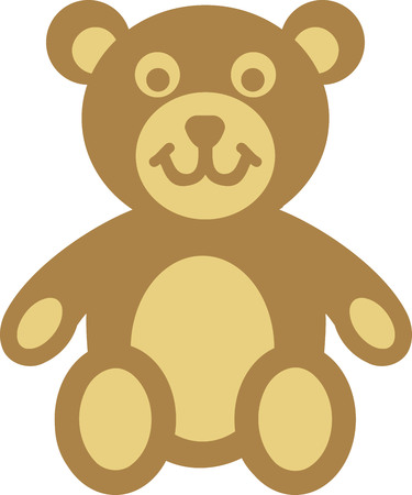 Teddy bear comic icon