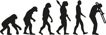 la evolución del trombón Ilustración de vector