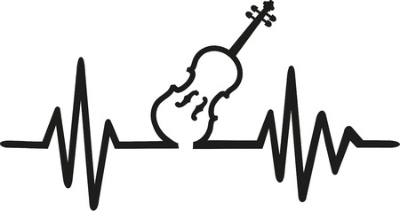 viola: Violin with frequence Illustration