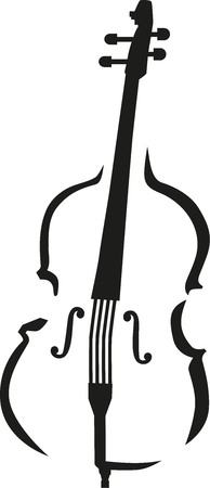 cellos: Contrabass caligraphy style Illustration