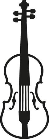 fiddles: Violin simple Illustration
