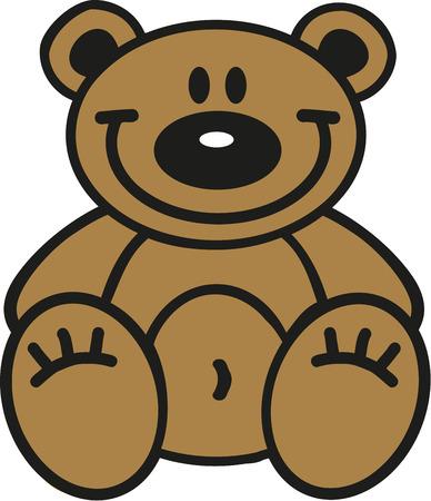 Cartoon teddy bear Illusztráció
