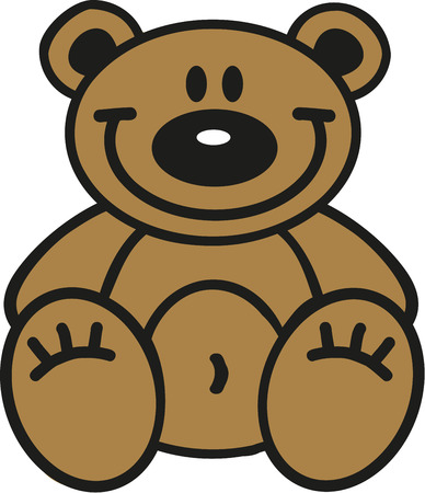 sign  childhood: Cartoon teddy bear Illustration