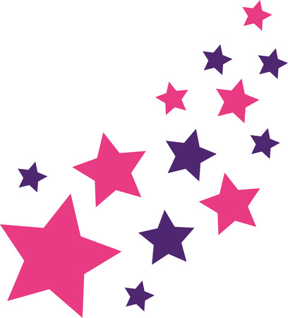 estrellas moradas: Estrellas del rosa y p�rpura Vectores