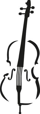 Cello caligraphy style