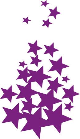 purple stars: Purple stars falling