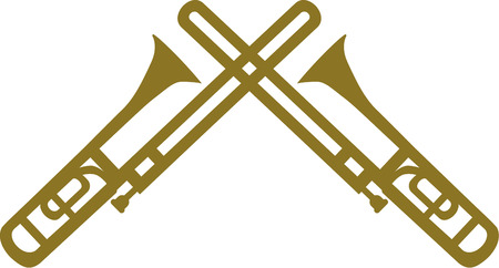 Dos trombones cruzado