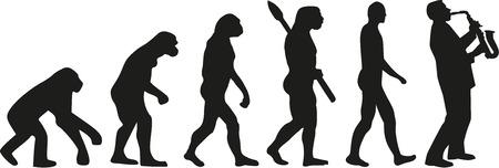 evoluzione Sassofono Vettoriali