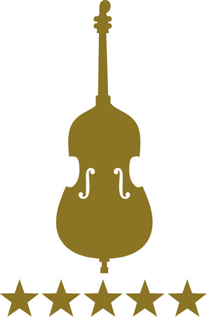 cellos: Contrabass with five golden stars