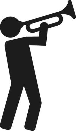 trumpet player: Trumpet player pictogram