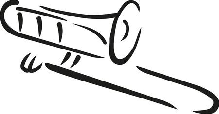 Trombone kalligrafie stijl