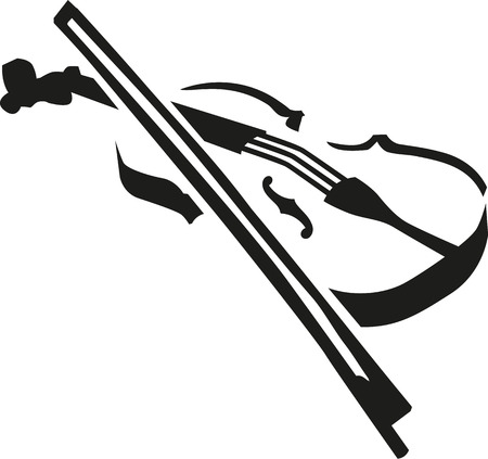 fiddles: Violin with bow