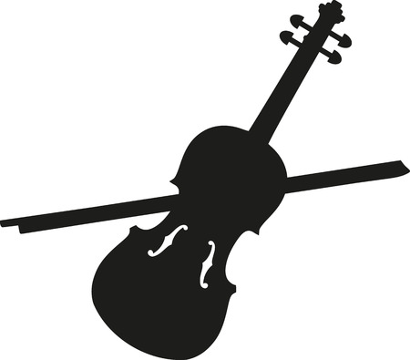 fiddle bow: Violin with violin bow