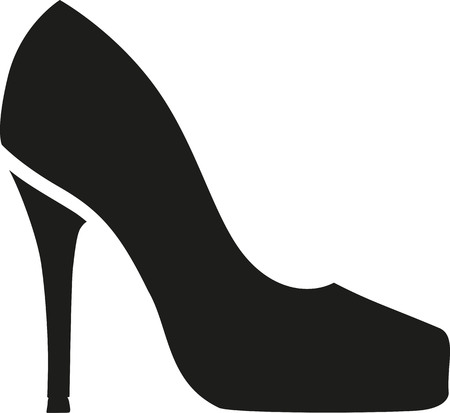 high: High heel symbol Illustration