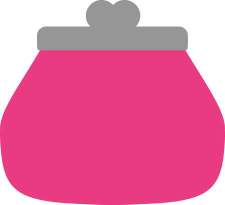 purse: Pink purse icon Illustration