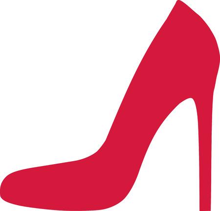 stiletto: Red stiletto Illustration