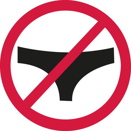 naturism: No slip allowed Illustration