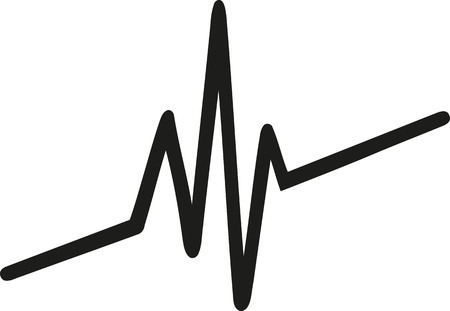 Heartbeat Line Art : Chaotic heartbeat line royalty free cliparts vectors and stock