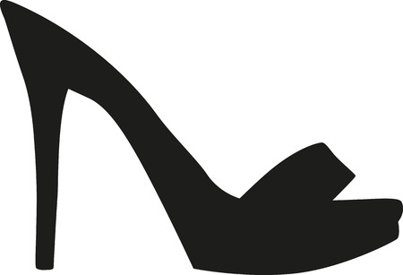 peep toe: Sexy peep toe high heel