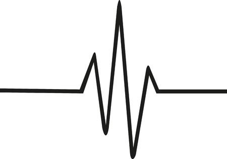 Ligne de rythme cardiaque Thin Banque d'images - 57899124