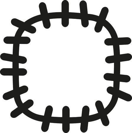 patch: Patch with big stitches