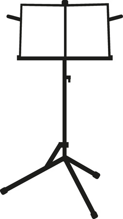 the music: Music stand Illustration